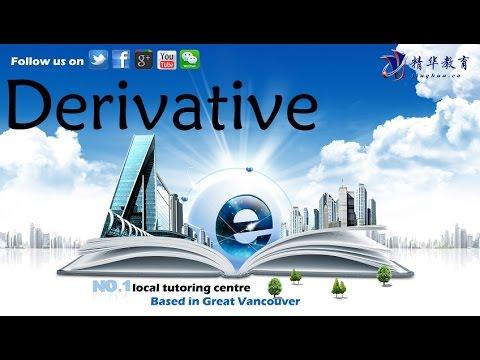 Calculus 1 Derivative Tutorial 2 Interpretations of Derivative