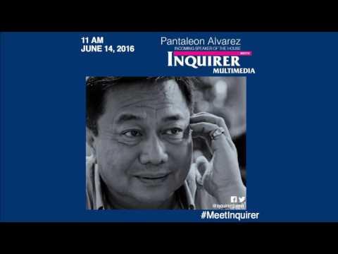 Pantaleon Alvarez meets Inquirer Multimedia