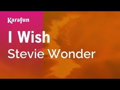 Karaoke I Wish - Stevie Wonder *