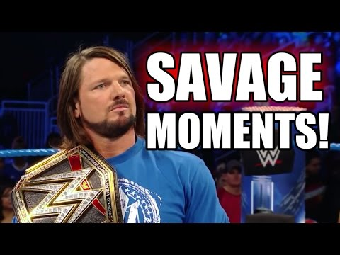 WWE AJ Styles Most Savage Moments , Funny Moments , Outrageous Moments 2017 / 2016