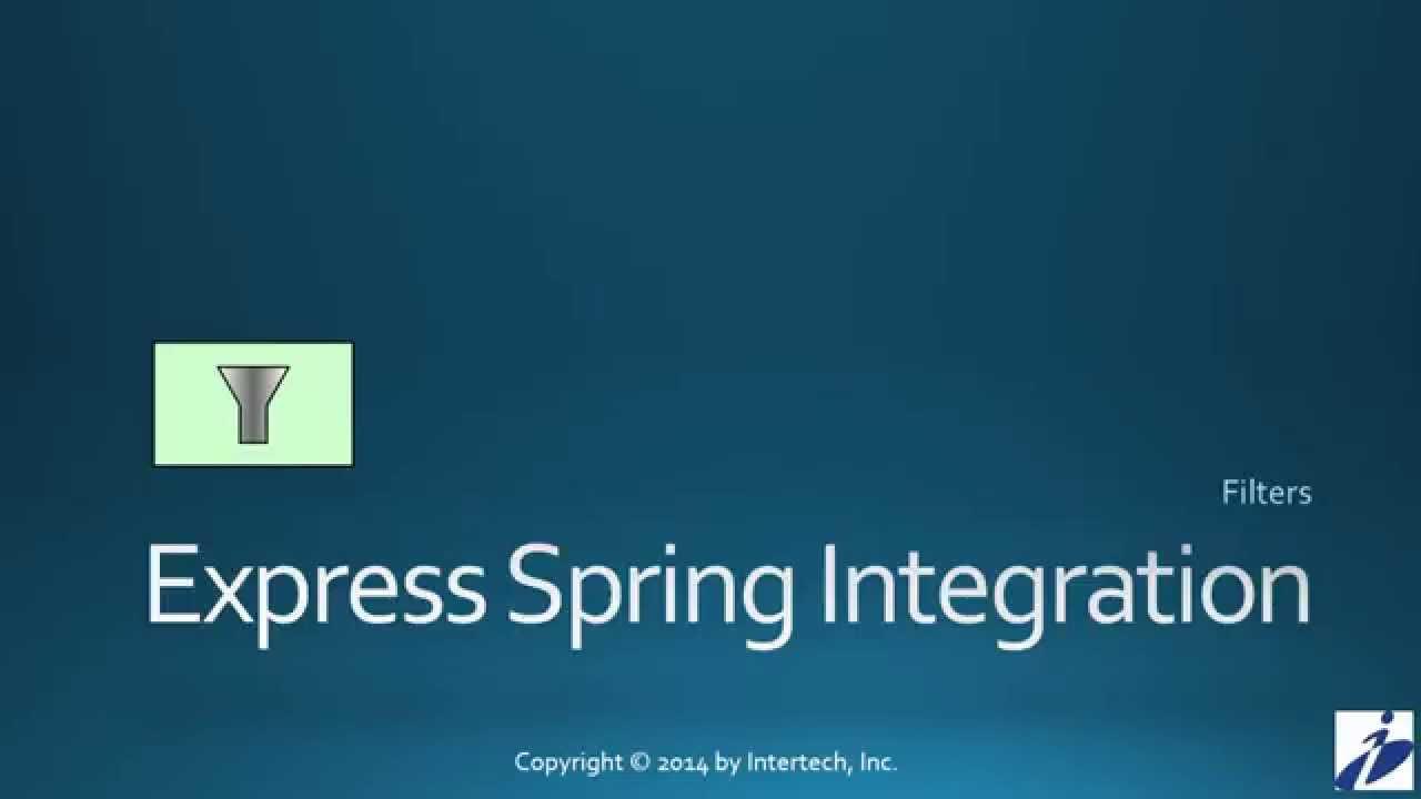 Sprint Integration Tutorial (Part 3) - Filters