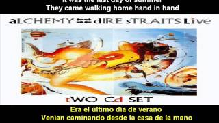 Dire Straits - Two Young Lovers (Alchemy)(Subtitulos español - inglés)