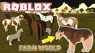ROBLOX FARM WORLD! SAD, FUNNY & CUTE Roleplay Moments + Horse - PONY PARTY!