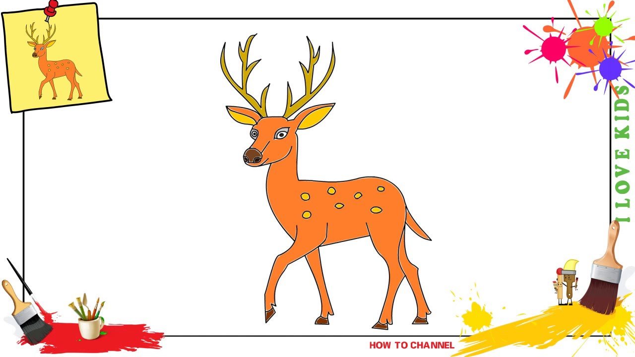 How To Draw A Deer Easy Slowly Step By Step For Kids Update