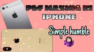 PDF MAKING IN IPHONE IN MALAYALAM#simple PDF in iPhone