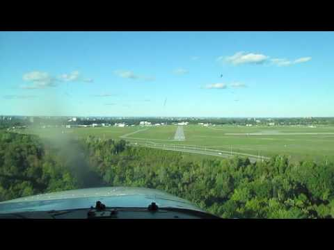 Landing Cessna 172 At Ottawa, Canada