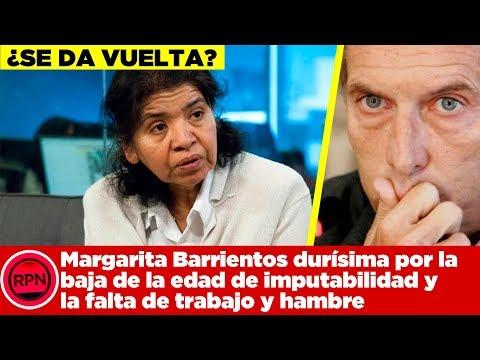¿Se da vuelta? Margarita Barrientos durísima por la baja de la edad de imputabilidad y la economía