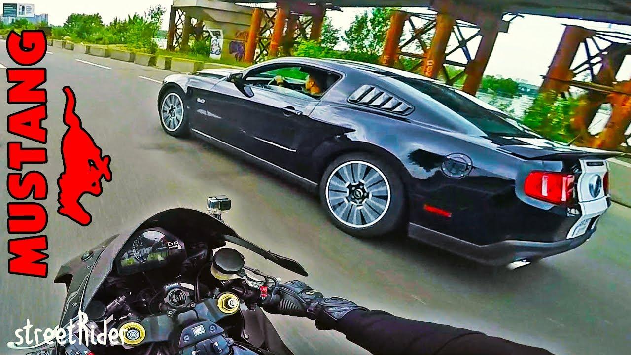 ЗАРУБА С МУСТАНГОМ | Ford Mustang 5.0 V8 GT vs Honda Fireblade