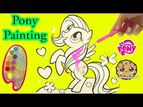 My Little Pony Paintfolio Watercolor MLP Water Color Paint Art Poster Book - Cookieswirlc Video
