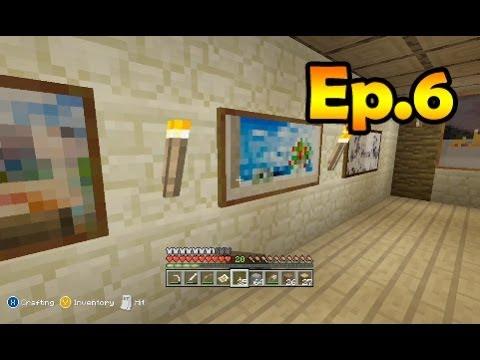Minecraft Survival - Making an Art Gallery [6]