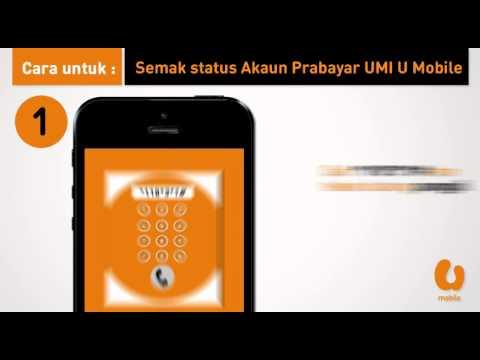 U Mobile Semak Status Akaun Prabayar Umi Youtube