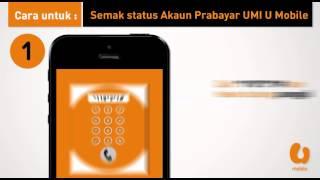 U Mobile - Semak Status Akaun Prabayar UMI