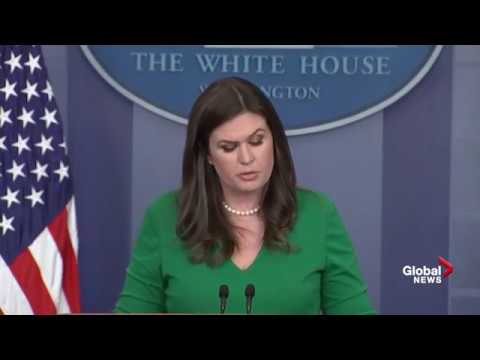 Las Vegas Shooting: Sarah Huckabee Sanders fights back tears during press briefing
