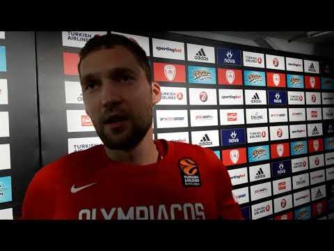 Janis Strelnieks on Eurohoops TV after the game against Crvena Zvezda