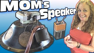 STRANGE SPEAKER Inside My Mom's 1928 RCA | Installing New Wires & Grill Cloth to OLD Antique 100-A