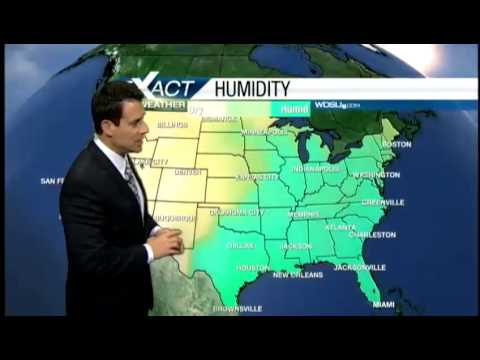 Warm, humid with rising rain chances