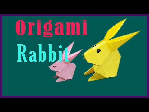 Origami : How to make a paper Rabbit, TOYS DIY