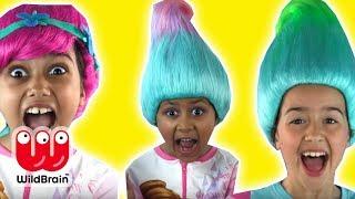 BAD HAIR DAY! - Princess Gets Trolls Haircuts! - Princesses In Real Life | WildBrain Kiddyzuzaa