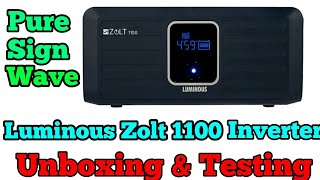 Luminous Zolt 1100 Inverter Unboxing and Testing