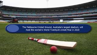 Capacity of Melbourne Cricket Ground to host women's world T20 final in year 2020.