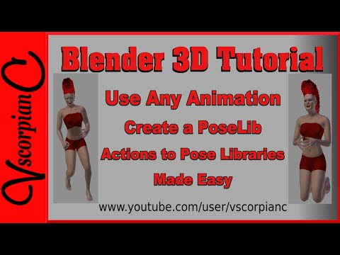 Blender 3D Tutorial - How to Use Animation Actions for Pose Library by VscorpianC