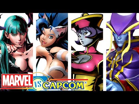 "All ""DARKSTALKERS"" Characters SupeR Moves / Hyper Combos in MvC Series!"
