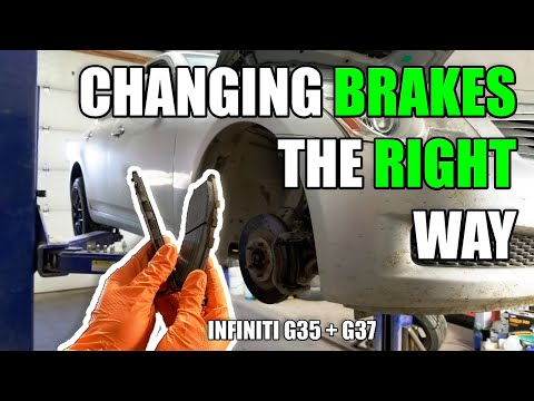 How to Change Infiniti G35/G37 Brakes (Pads & Rotors) | Extra Quite