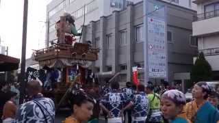 佐原の大祭 秋祭り2014 山車巡行 源義経〔上宿〕