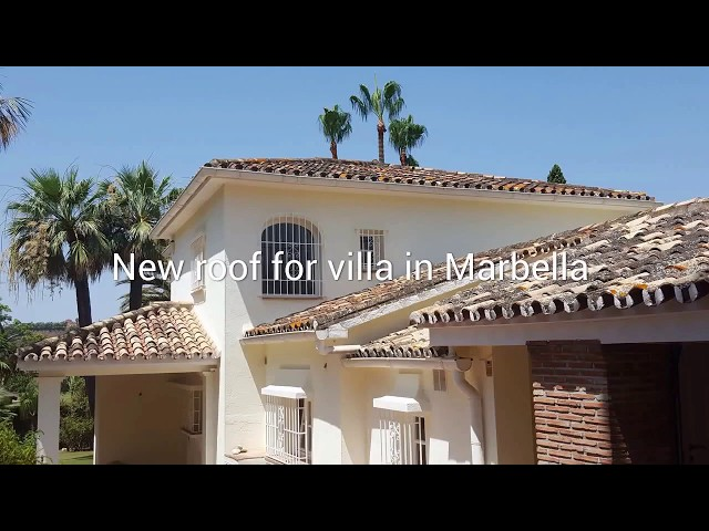New roof for villa in Marbella