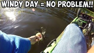 "Kayak Bass Fishing - ""We call that a DRAW!!"" #GoPro Fishing"