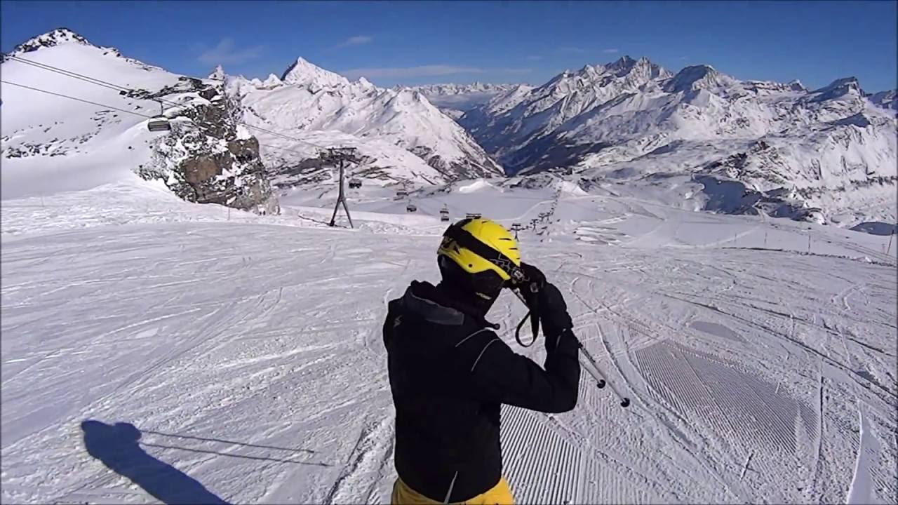 Skiing in switzerland - zermatt, matterhorn (hd)