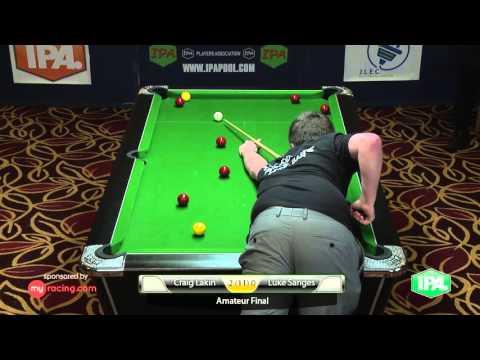 IPA Pool Brighton 2015 Amateur Final Lakin v Sanges