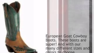 Black Jack European Goat - Vintage Style Wingtip Cowboy Boots - Timsboots.com