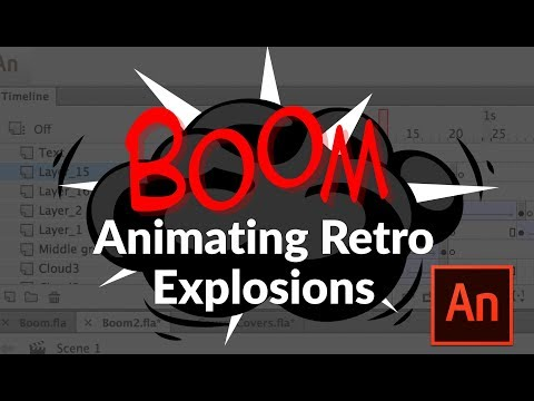 Animating a Retro Explosion Effect in Adobe Animate or Flash