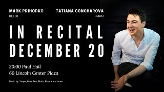 Prihodko Goncharova In Recital December 20 Paul Hall