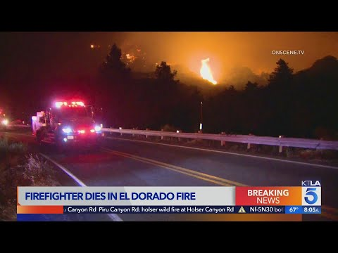 Firefighter killed battling El Dorado Fire that erupted during gender-reveal party in Yucaipa