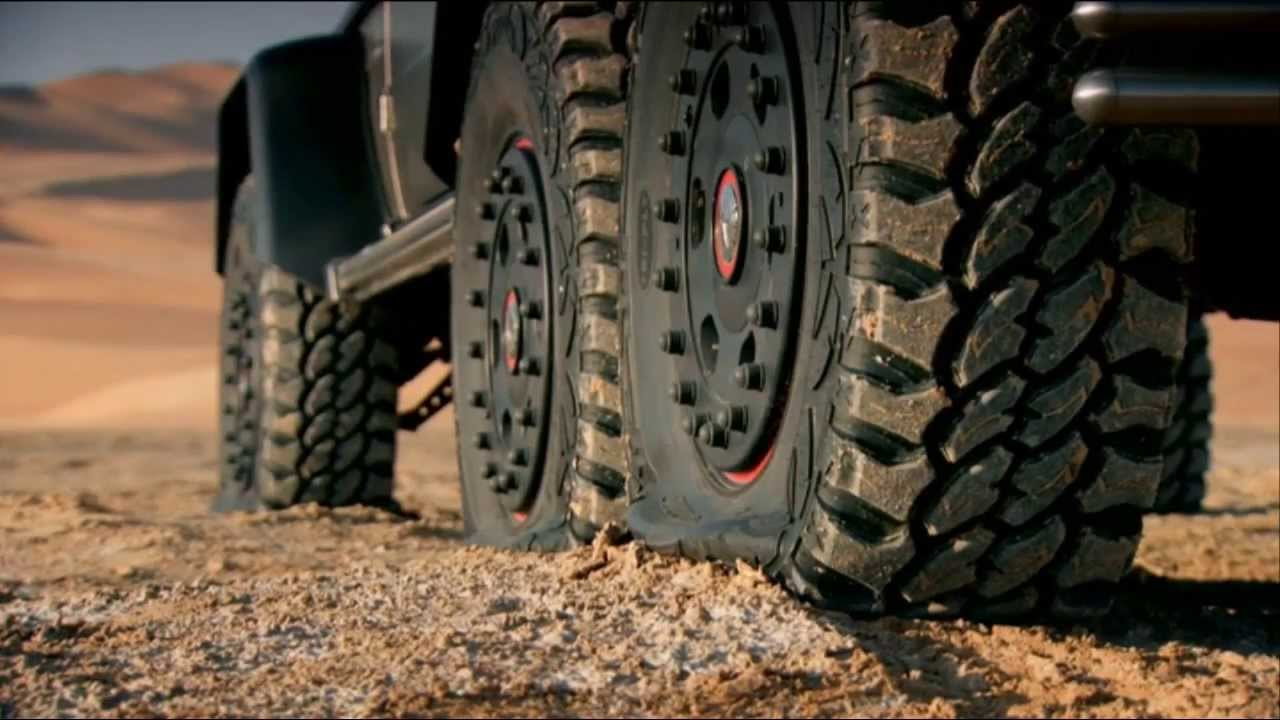 top gear - the 6-wheeled mercedes-benz g63's self-inflating tires