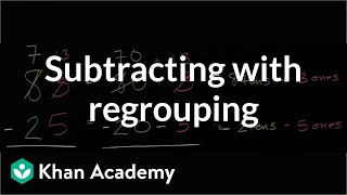 Subtracting with regrouping (borrowing) | Early Math | Khan Academy