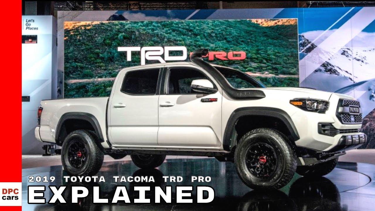 2019 toyota tacoma trd pro explained - youtube