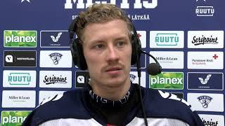 Jere Karlsson Hokki-pelin jälkeen