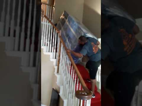 Moving Heavy Furniture Upstairs Old School | Beast Mode   YouTube
