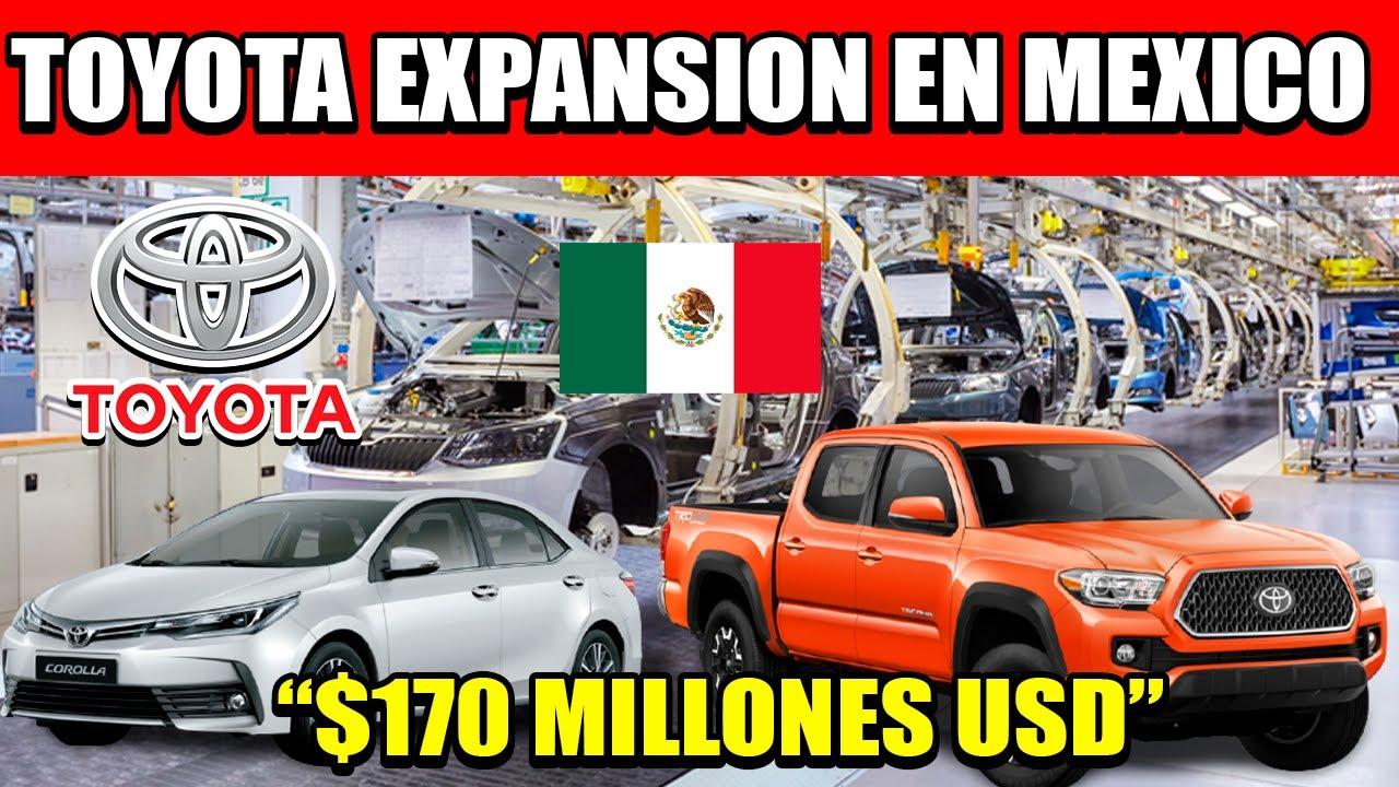 TOYOTA ANUNCIA INVERSIÓN DE 170 MILLONES DE DOLARES PARA AUMENTAR LA PRODUCCIÓN EN MÉXICO