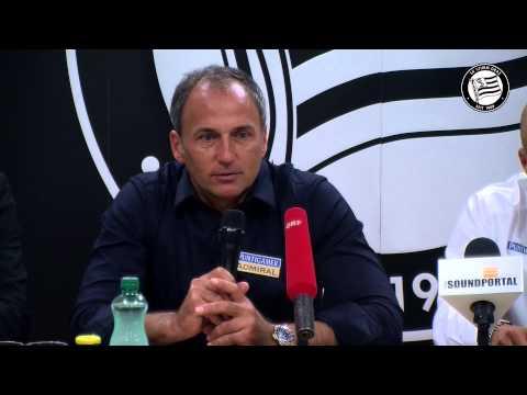 SK Sturm: Pressekonferenz zum Abgang von Darko Milanic
