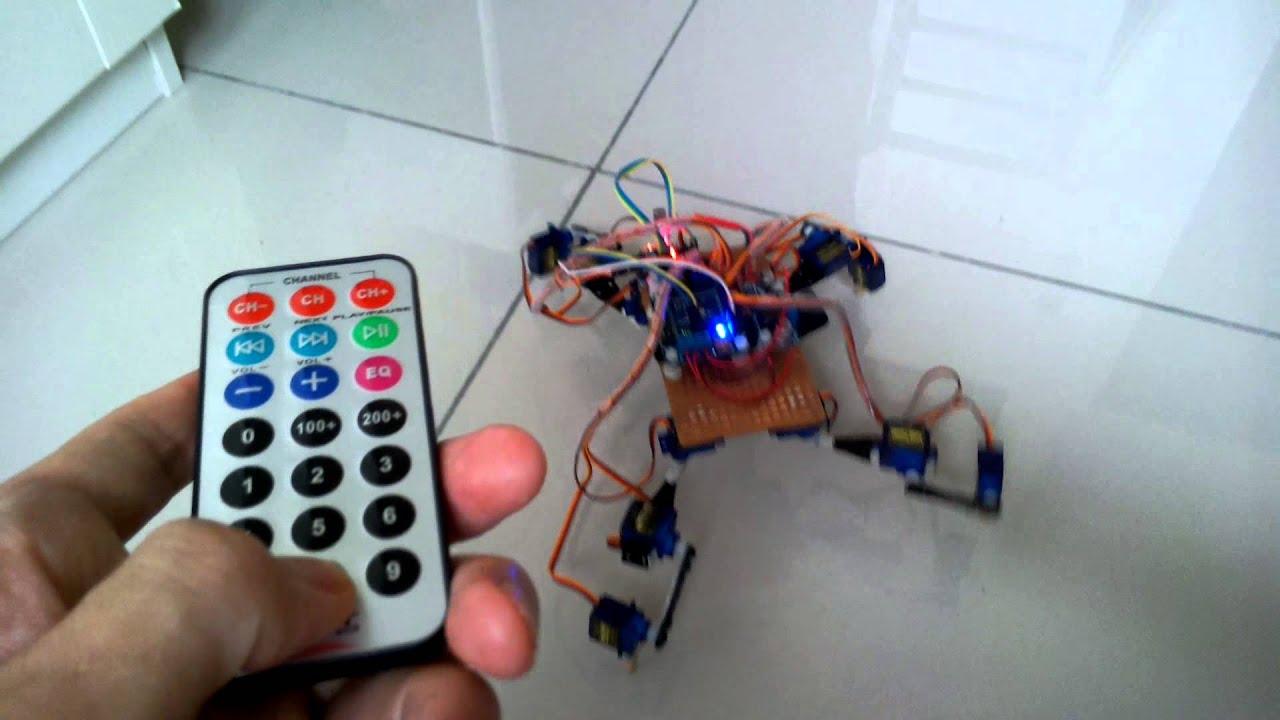 紅外線遙控四足機器人 arduino ir remote quadruped robot doovi