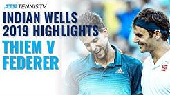 Dominic Thiem Beats Federer, Wins First Masters 1000 Title! | Indian Wells 2019 Final Highlights