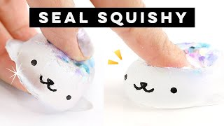 DIY Transparent SEAL SQUISHY! How to Make EASY Clear Squishies