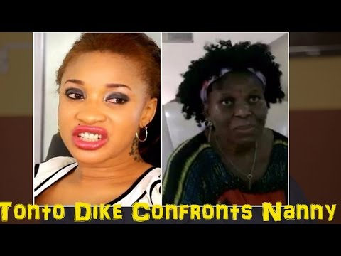 Tonto Dike Confronts Nanny Who Said She Abandoned Her In Hospital