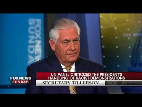 Tillerson on whether Trump represents American values: 'The president speaks for himself'