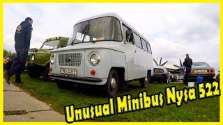 Polish Minibus Nysa 522 Documentary 2018. Unusual Minibus 2018. Old Cars Show