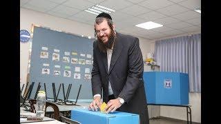 נחמן גלבך מצביע בבחירות 2018
